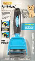 Fur-B-Gone 2 in 1 De-Shedding Tool