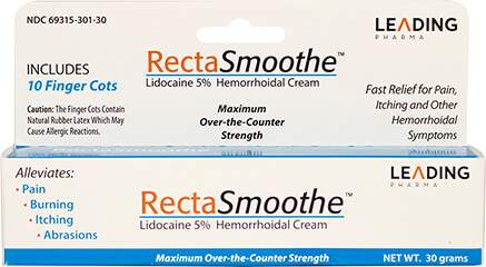 RectaSmoothe Hemorrhoidal Cream -  5% Lidocaine