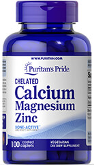 Chelated Calcium, Magnesium, Zinc