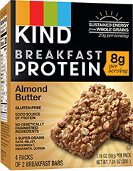 KIND Breakfast Protein Bars, Almond Butter, 8g Protein