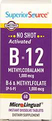 Vitamin B-12 Methylcobalamin 1,000mcg with B-6 & Methylfolate Tablets