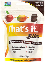 That's It Apple Mango Dark Chocolate Bites
