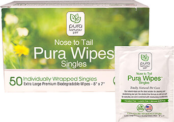 Nose to Tail Pet Wipes Singles