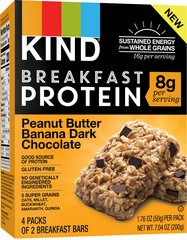 KIND Breakfast Protein Bars, Peanut Butter Banana Dark Chocolate, 8g Protein
