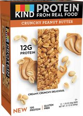 KIND Protein Bars, Crunchy Peanut Butter, 12g Protein