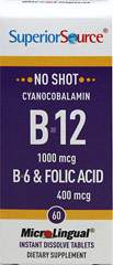 Vitamin B-12 Cynacobalamin 1,000 mcg with Vitamin B-6 & Folic Acid