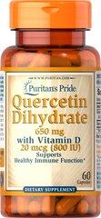 Quercetin Dihydrate 650mg with Vitamin D 800IU