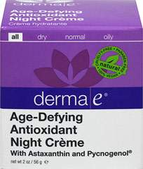Derma E® Age-Defying Night Créme with Astaxanthin & Pycnogenol