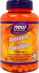 L-Arginine 500mg with Citrulline 250 mg