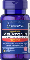 Quick Dissolve Melatonin 10mg Strawberry Flavor