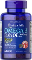 Omega-3 Fish Oil 1000 mg Plus Bone Support