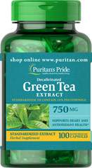 Decaffeinated Green Tea Standardized Extract 750 mg