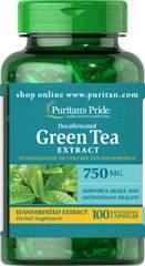 Decaffeinated Green Tea Standardized Extract 750 mg