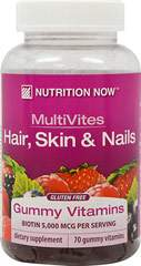 MultiVites Adult Gummy Vitamins Plus Hair, Skin & Nails Support