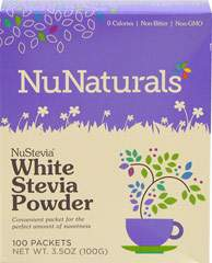 NuStevia White Stevia Powder 100 Packets