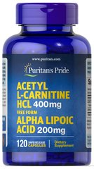 Acetyl L-Carnitine 400 mg with Alpha Lipoic Acid 200 mg