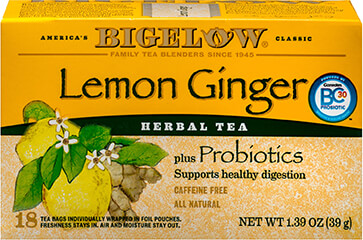 Lemon Ginger Herb Plus Probiotics Tea