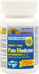 Acetaminophen 500 Mg Night Time Pain Medicine