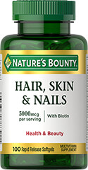 Hair, Skin & Nails with Biotin 5000 mcg