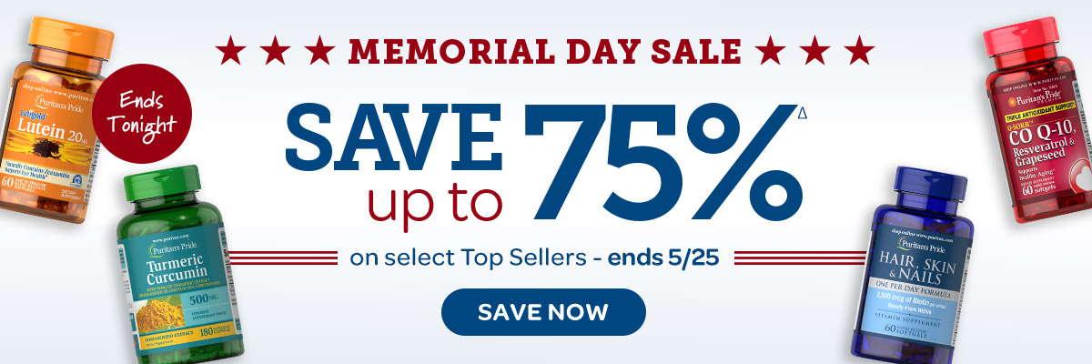 Memorial Day Sale Save up to 75%