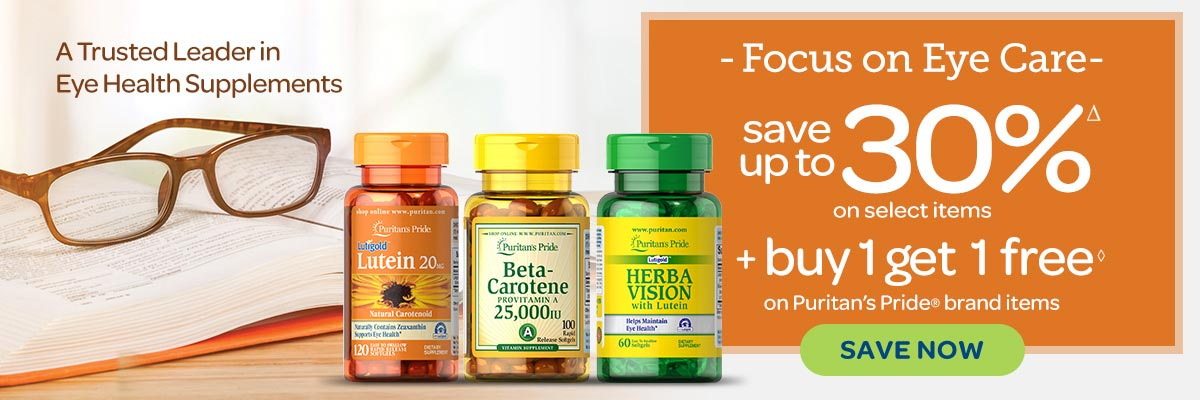 Eye Health Supplements - Save up to 30%