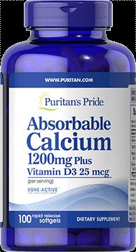 Absorbable Calcium 1200 mg + Vitamin D3 25 mcg