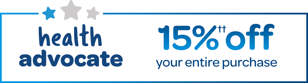 health advocate get 15% off
