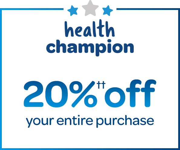 health champiom get 20% off