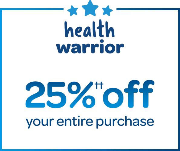 health warrior get 25% off