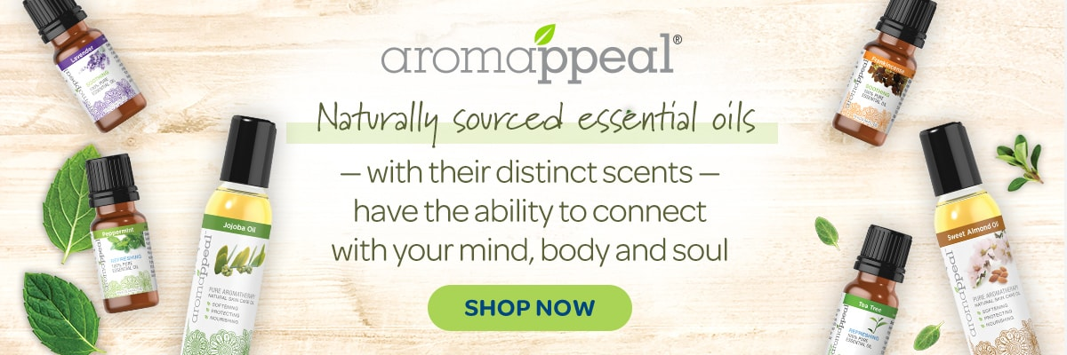 Aromappeal, Naturally sourced essential oils.
