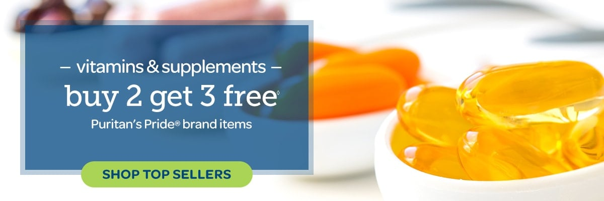 Vitamins and Supplements, Buy 2 Get 3 Free