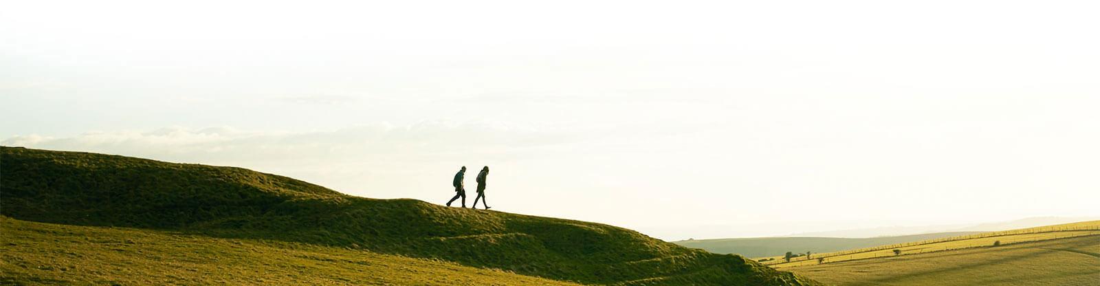 landscape people walking