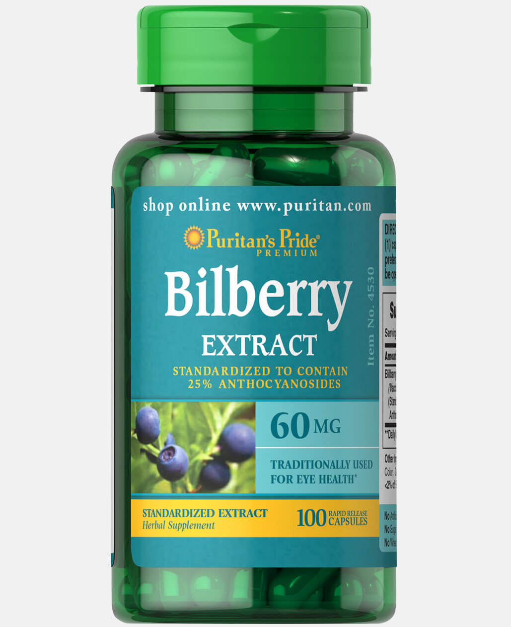Bilberry Fruit Standardized Extract 60 mg