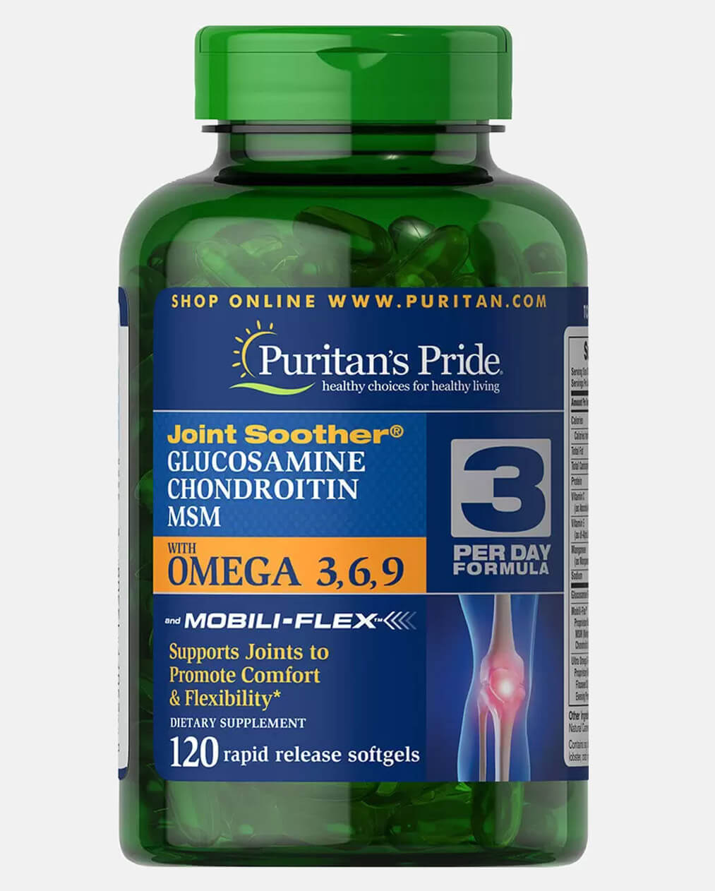 Glucosamine, Chondroitin & MSM with Omega 3, 6, 9