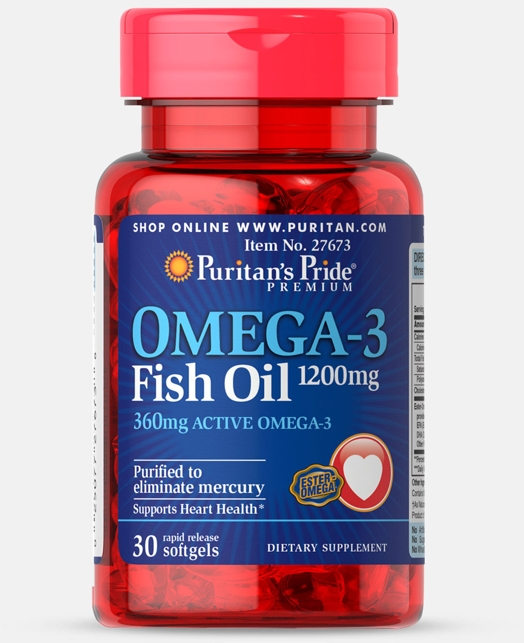 Omega 3 Fish Oil 1200 mg (360 mg Active Omega-3) Trial Size
