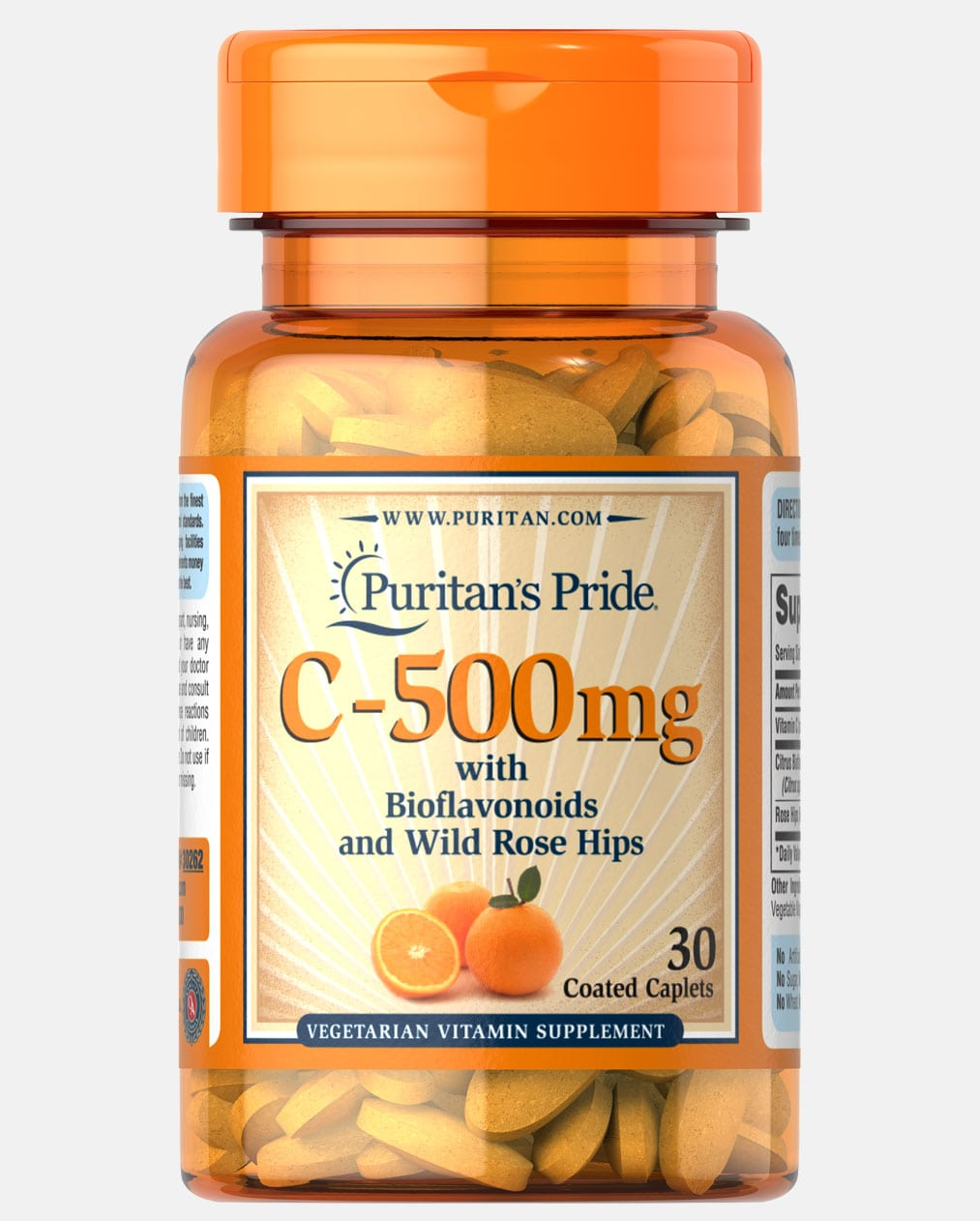 Vitamin C-500 mg with Bioflavonoids and Rose Hips Trial Size