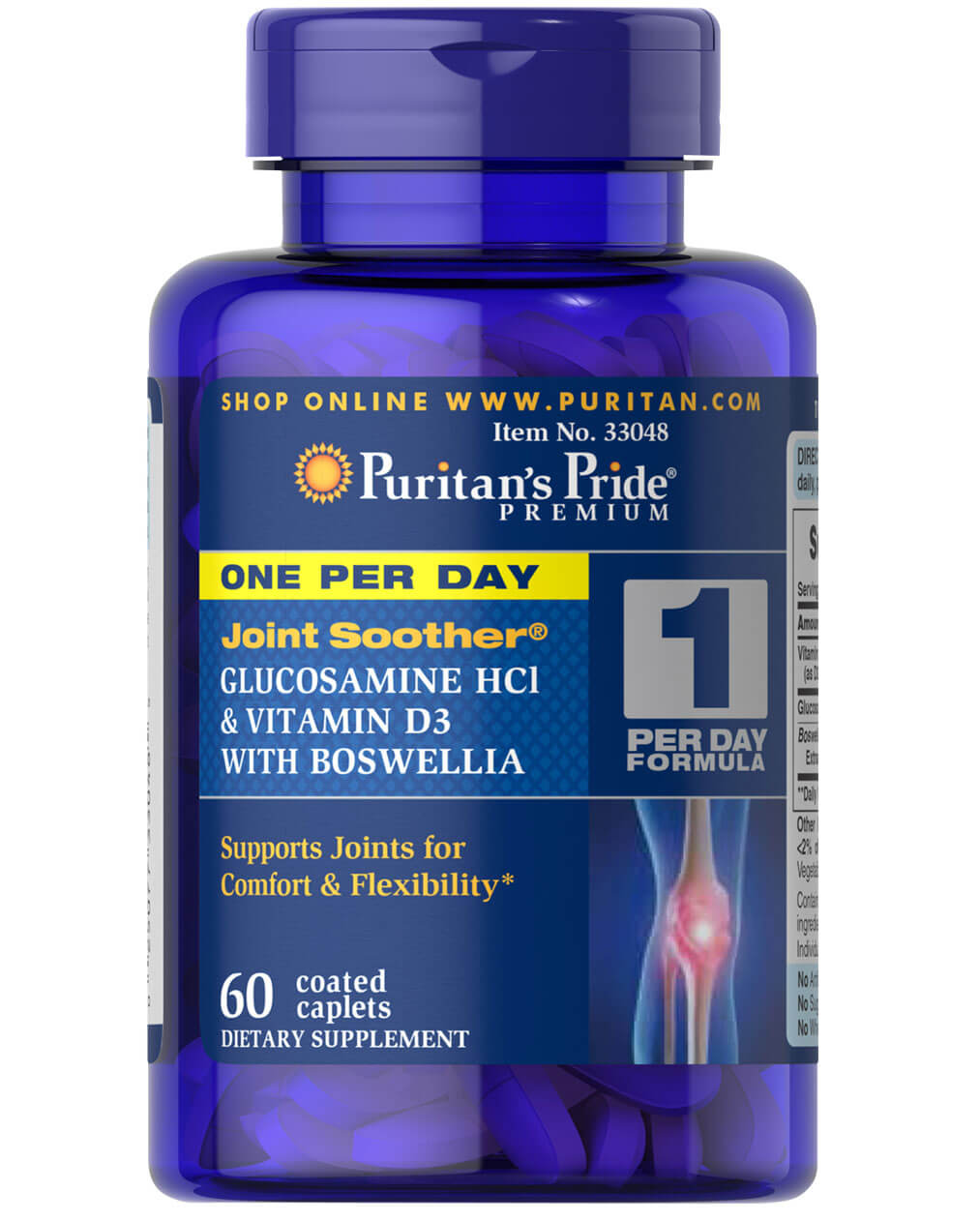 One Per Day Glucosamine, Vitamin D3 & Boswellia