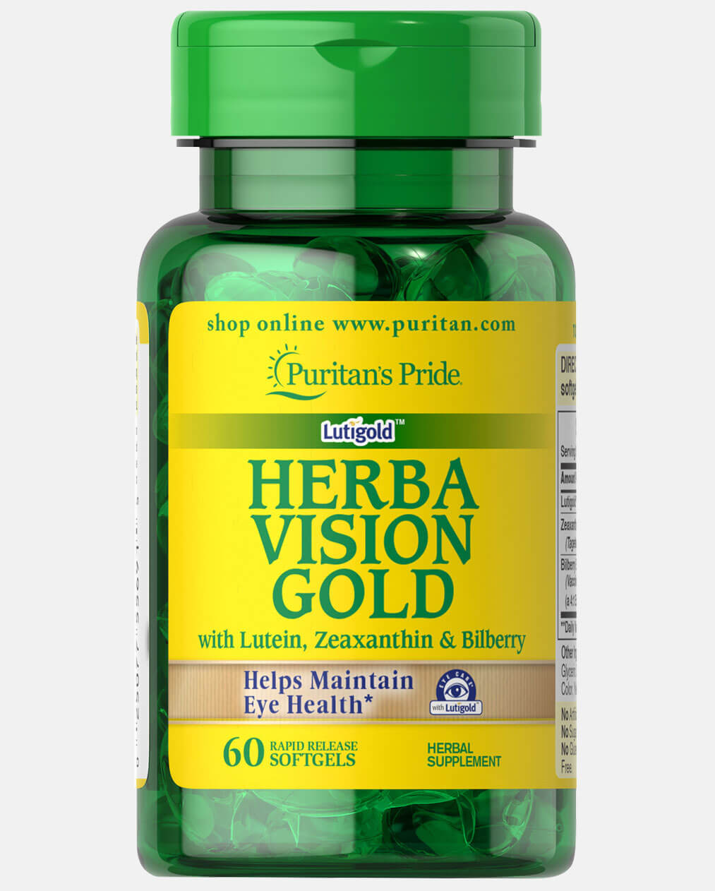 Herbavision Gold with Lutein,  Bilberry and Zeaxanthin
